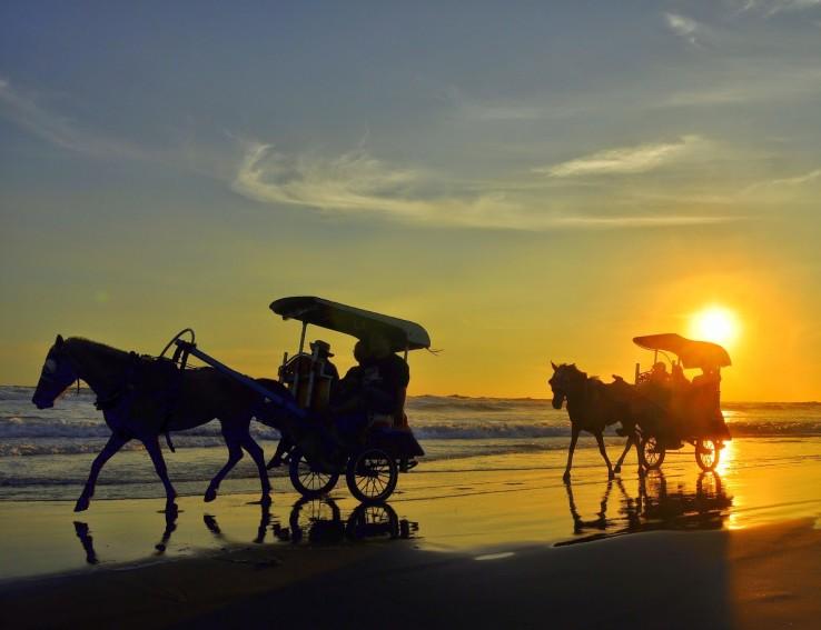 Menikmati Panorama Senja Di Pantai Parangtritis