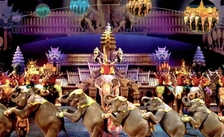 Menikmati Hiburan Malam di Phuket FantaSea Show