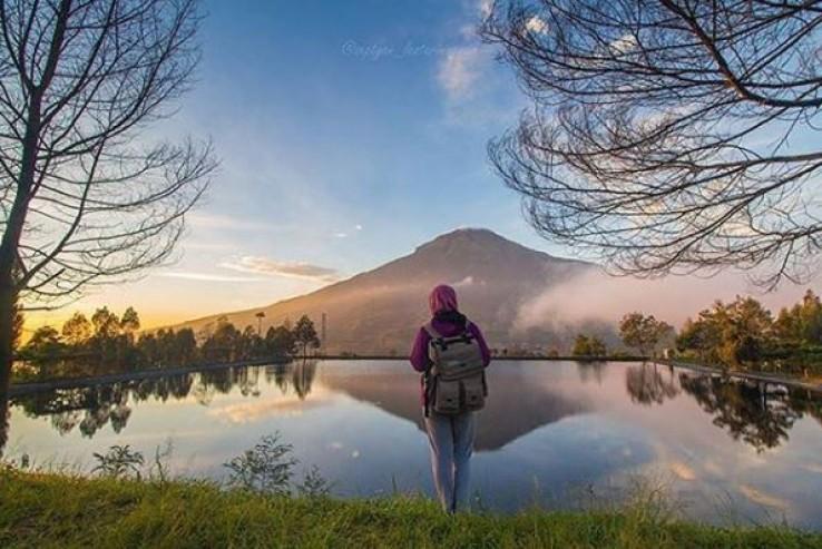 Wisata Alam Embung Kledung Temanggung Seindah Gunung Fuji