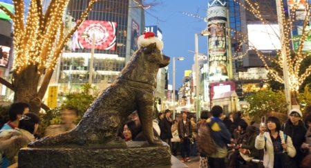 Hachiko Statue Jepang